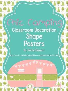 Chic Camping Theme Classroom Shape Posters