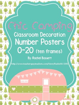 Chic Camping Theme Classroom Ten Frame Number Posters 0-20