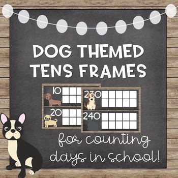 Chic Dog Tens Frames for Counting Days In School