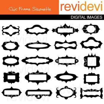 Chic Frame Silhouette Clip art