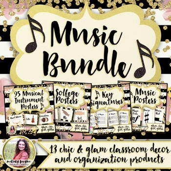 Music Decor & Organization HUGE BUNDLE: Chic & Glam