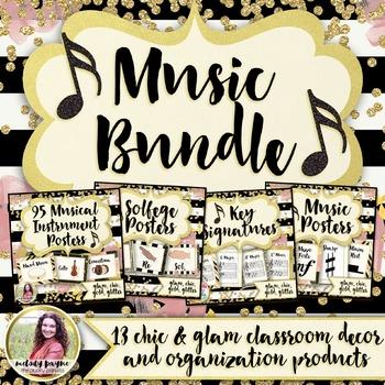 Music Decor & Organization BUNDLE: Chic & Glam