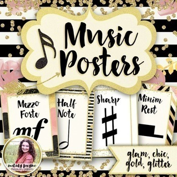 Chic & Glam Music Decor *smaller* BUNDLE! {Symbols, Instruments, Rules, & More!}