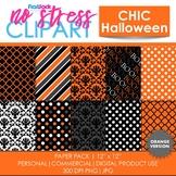 Chic Halloween Orange Digital Papers