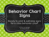 Chic Lime & Chalkboard Behavior Chart