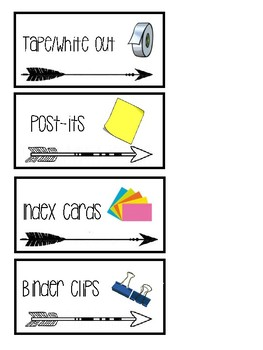 Chic, Neat, and Unique Teacher Toolbox Labels