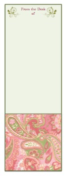 """Teacher Stationery-""""From the Desk of"""" Chic, Paisley Design"""