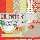 Digital Paper and Frame Set- Chic