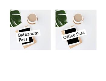 Chic Passes (Bathroom, Office, Nurse, Locker)