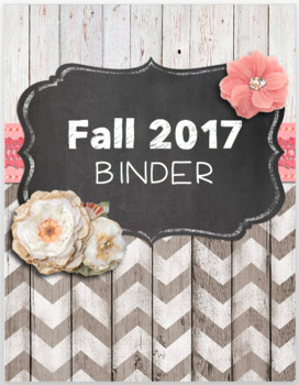 Chic Rustic Editable Binder Cover