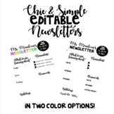 Chic & Simple Editable Newsletter