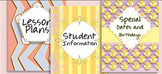 Chic Teacher Planner or Binder -- Dividers Covers Spines