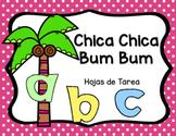 Chica Chica Bum Bum - Hojas de tarea