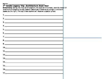 Chicago Architecture Boat Tour Worksheet