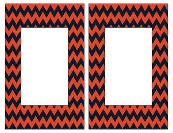 Chicago Bears Inspired Blue and Orange Alphabet Cards for Word Walls-Editable