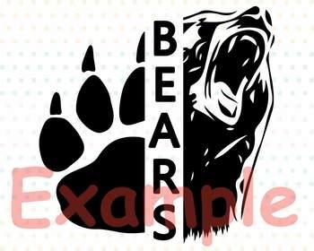 Chicago Bears SVG clipart Cutting Files football baseball Basketball soccer 964s