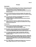 Chicago Bibliography Example