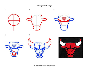 Chicago Bulls Logo Drawing