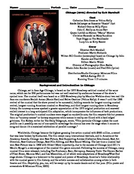 Chicago Film (2002) Study Guide Movie Packet