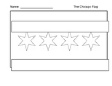 Chicago Flag Outline