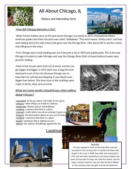 Chicago History & Architecture Vocabulary Page
