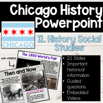 Chicago History Powerpoint! Meet your IL Social Studies History Standards!!