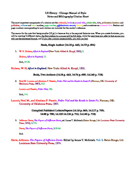 Chicago Style Citation Guide for Students