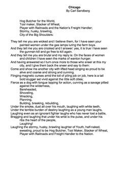 Chicago by Carl Sandburg - Lessons, Analysis, & Writing