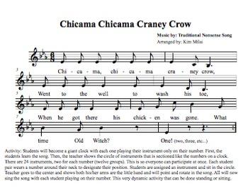 Chicama Chicama Craney Crow - Songs for Class