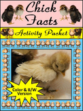 Easter Activities: Chick Facts Spring Activity Bundle - Color&BW Versions