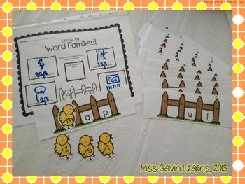 CVC Words - Chicks Build Words