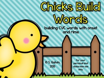 CVC Words - Chicks Build Words