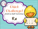 Chick Challenge Melody Game and Activities: Re