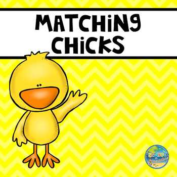Matching Chicks File Folder Game