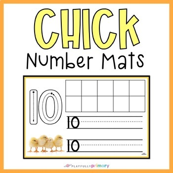 Chick Counting & Number Writing Mats | 1-10 | Mini Eraser Activity