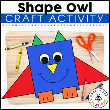 Shape Owl Cut and Paste