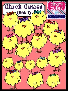 Chick Cuties Clipart Bundle (Spring)