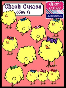 Chick Cuties Clipart Set 1 (Spring)