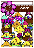 Chick Digital Clipart (color and black&white)