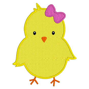 Chick Digital Machine Embroidery Design, Easter Spring Chick Embroidery, 3 Sizes