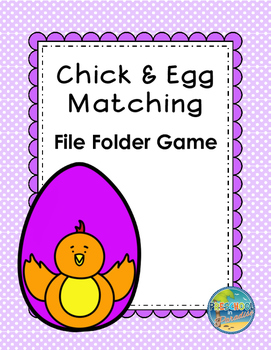 Chick & Egg File Folder Game