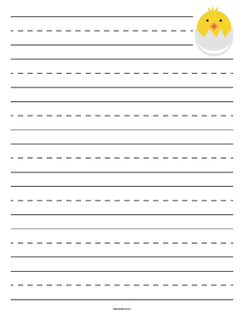Chick Hatching Primary Lined Paper
