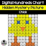 Digital Chick Hundreds Chart Hidden Mystery Picture Activity Spring Easter Math