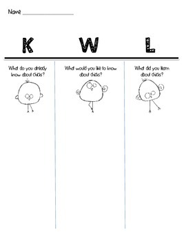 Chick KWL Chart