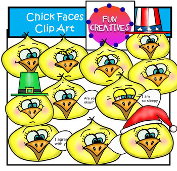 Chick Mood and Fun Faces