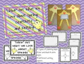 """""""Chick"""" Out What We Love About Spring Craftivity and Writing Activity"""