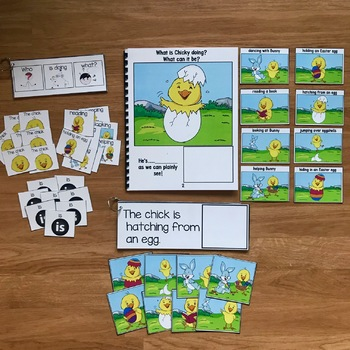 """Chick Sentence Builder Book:  """"What Is Chicky Doing?"""""""