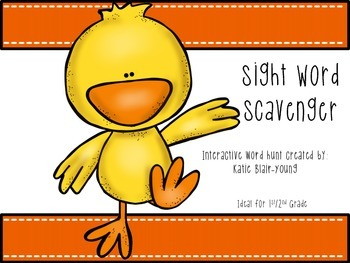 Chick Sight Word Scavenger