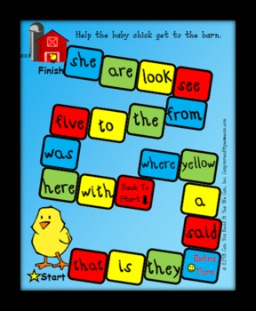 Chick Sight Words Center Game