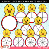 Chick Spinners Clip Art